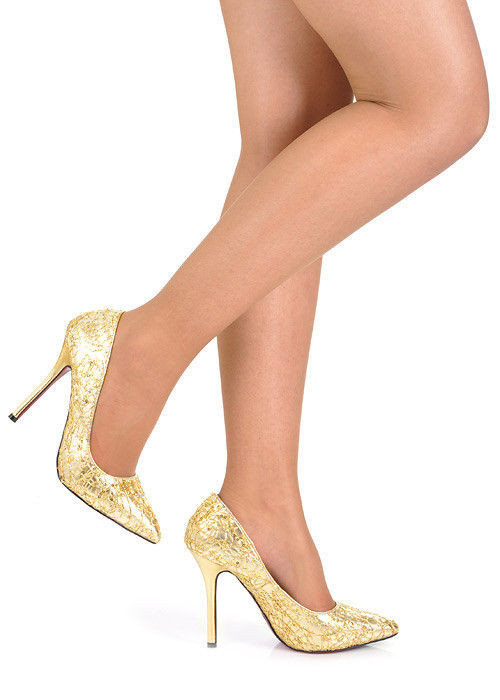 fc35e1c76a Zlaté lodičky na ples I9348GO  S1-61P - Belle Women - Lodičky