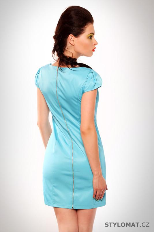 a4854c1e36ec Dámské elegantní světle modré saténové šaty - Drole de Copine ...