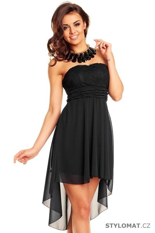 cbb801beb261 Dámské černé krajkové koktejlové šaty - Mayaadi - Krátké společenské šaty