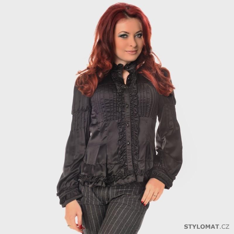 705256cf558d Černá saténová blůza - Fashion - Halenky