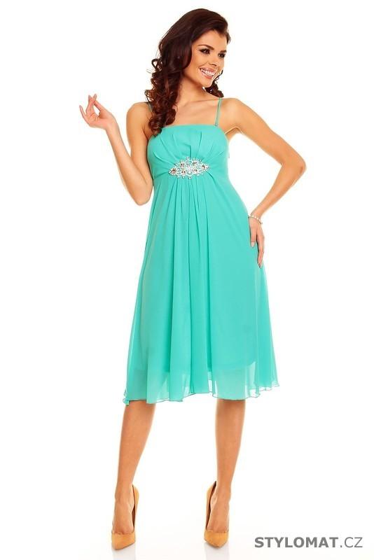 c7af7df6fd24 Dámské tyrkysové šaty - II. jakost - Best Emilie - Krátké společenské šaty
