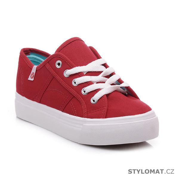 ef22a8911 Červené tenisky na platformě - Kylie - Tenisky