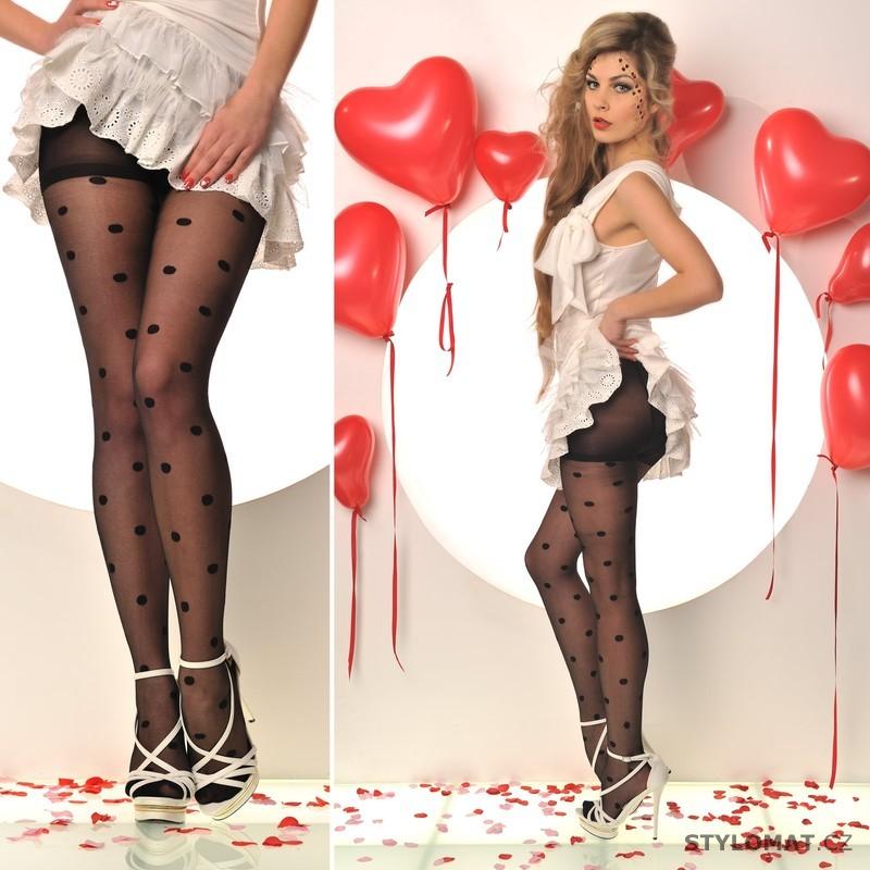 dae6ad92dd71 Moderní černé puntíkaté punčocháče - Fashion - Punčochy a punčochové kalhoty