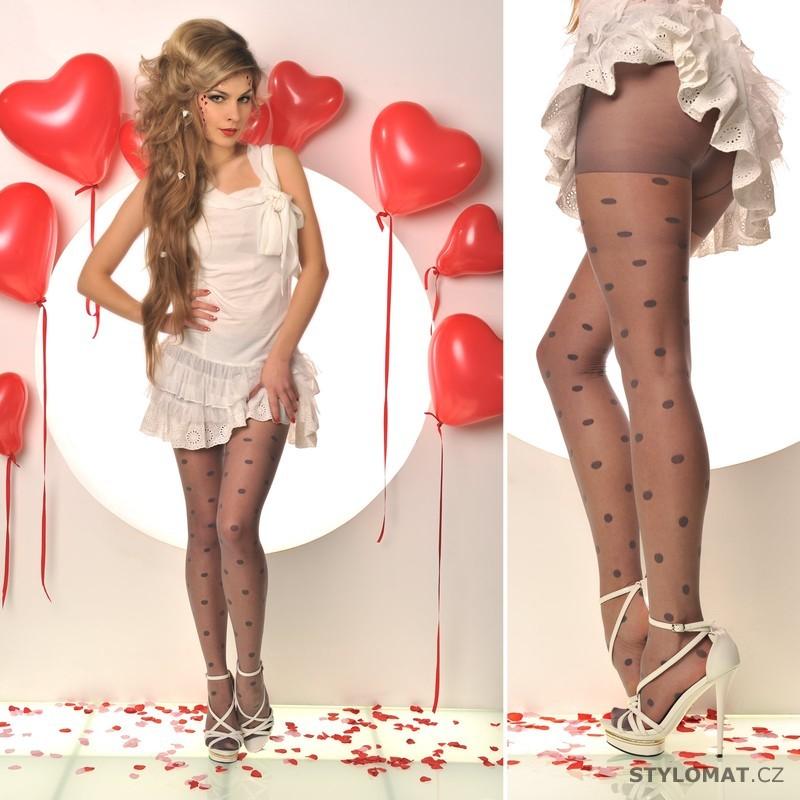 b2ca0c5ebbbe Moderní šedé puntíkaté punčocháče - Fashion - Punčochy a punčochové kalhoty
