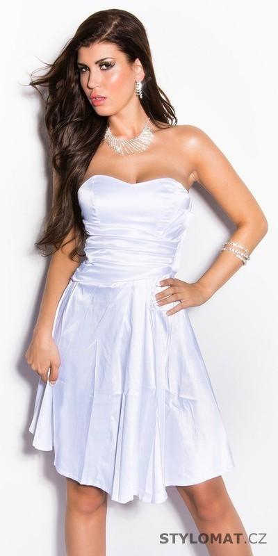 4e7caae43b61 Dívčí šaty do tanečních bílé - Koucla - Krátké společenské šaty