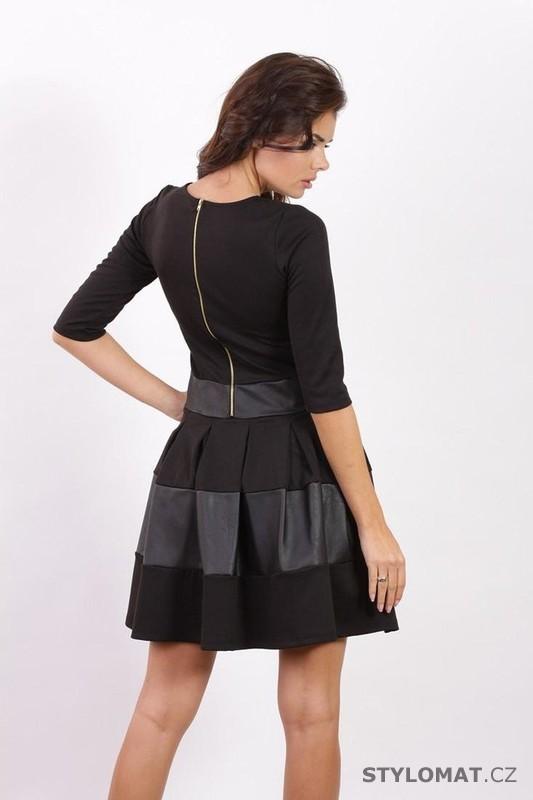 daa1fe8677fa Dívčí černé skater šaty - Fashion H. - Jarní šaty