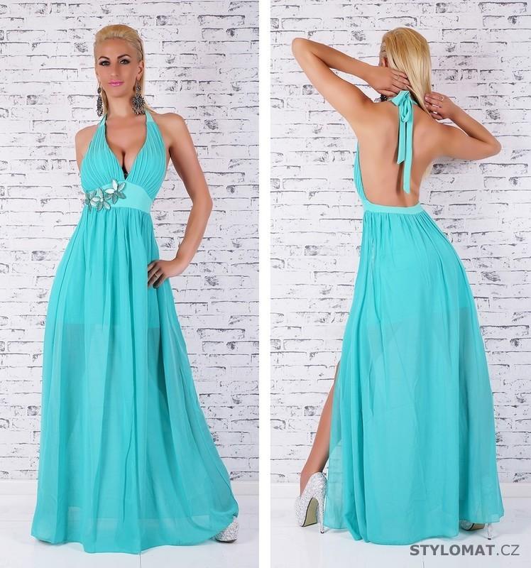 1f21e243ed48 Tyrkysové plesové šaty - EU - Dlouhé společenské šaty