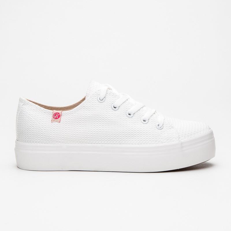 388183da2716 Bílé tenisky na platformě - Kylie - Tenisky