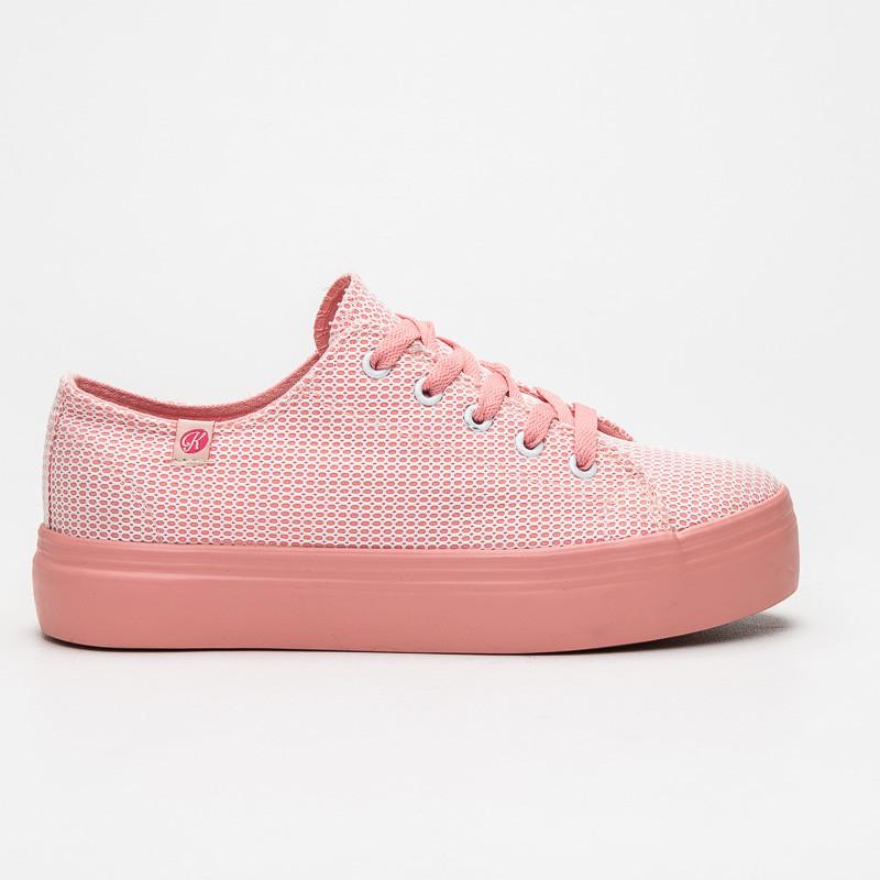 ab3138b1d936 Pastelově růžové tenisky na platformě - Kylie - Tenisky