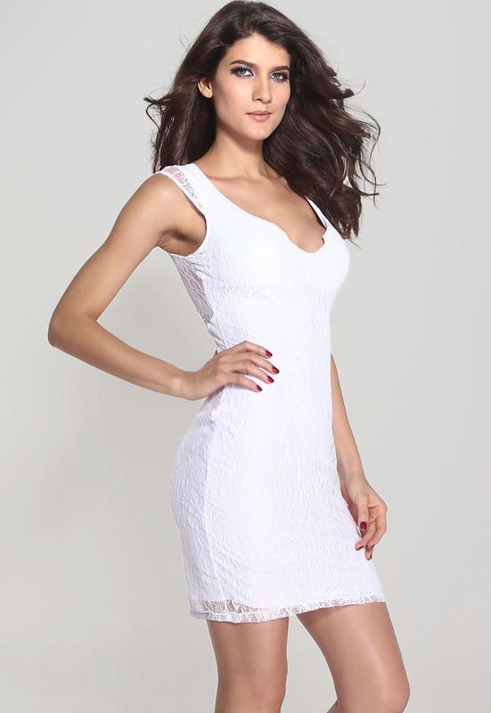 bff7095032d8 Bílé krajkové šaty - Damson - Party a koktejlové šaty