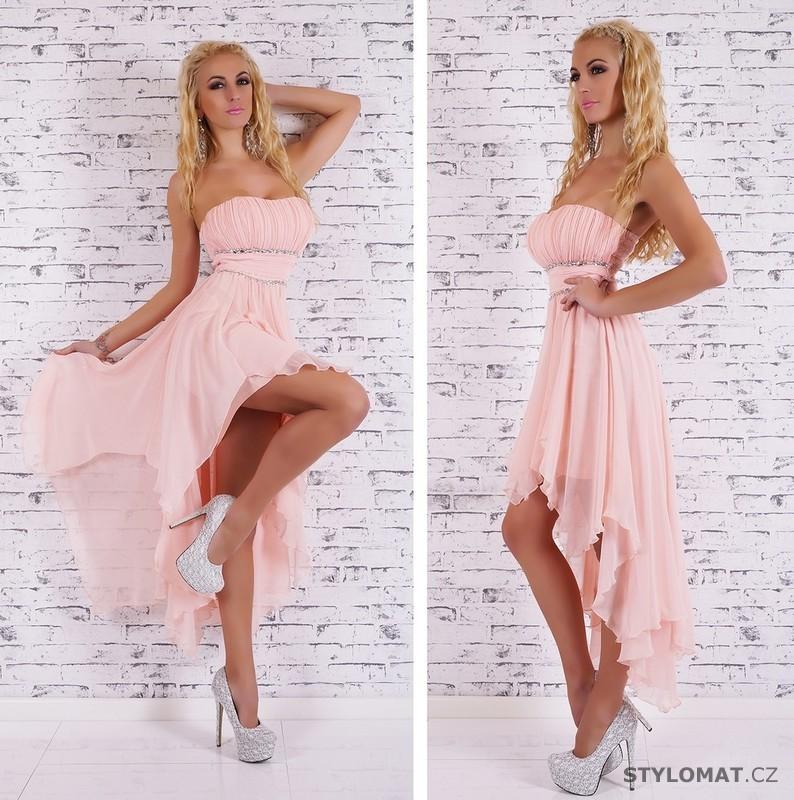 75aab575437e Společenské světle růžové šaty - EU - Krátké společenské šaty