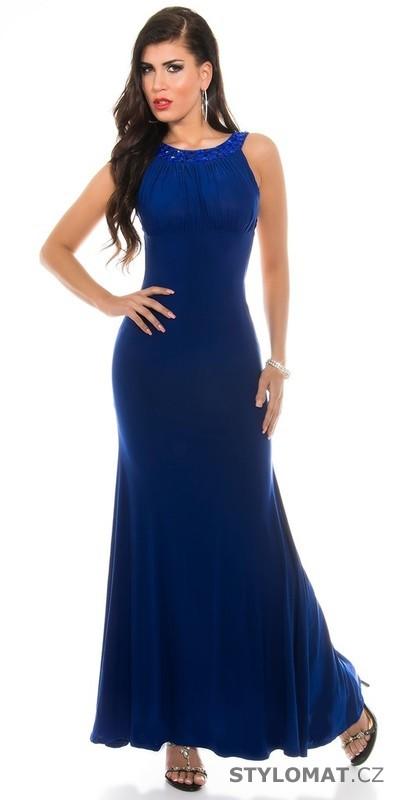 c2fcef786770 Modré plesové šaty dlouhé - Koucla - Dlouhé společenské šaty