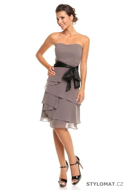 48d3e5197fed Dámské šedé koktejlové šaty - Mayaadi - Krátké společenské šaty