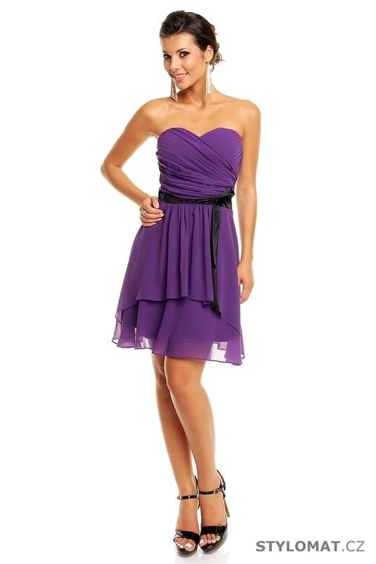 1baaf5170755 Dámské fialové koktejlové šaty - Mayaadi - Krátké společenské šaty
