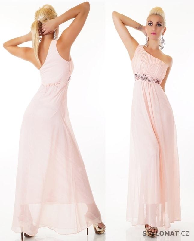 47379ae4b923 Dlouhé růžové společenské šaty - EU - Dlouhé společenské šaty