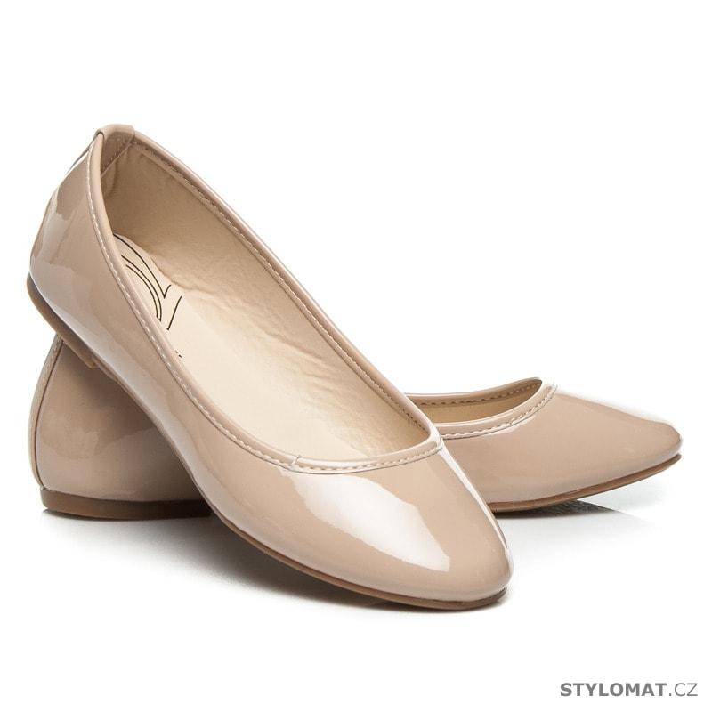 0d24aaad16b8 Béžové baleríny lakýrky - TLCK SHOES - Baleríny