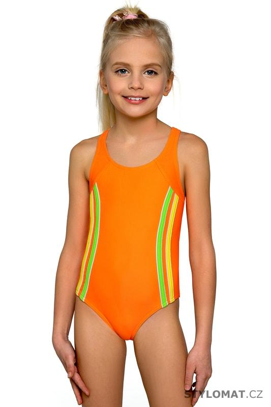 67a727576 Dívčí plavky Klárka neonové - Lorin - Dětské plavky