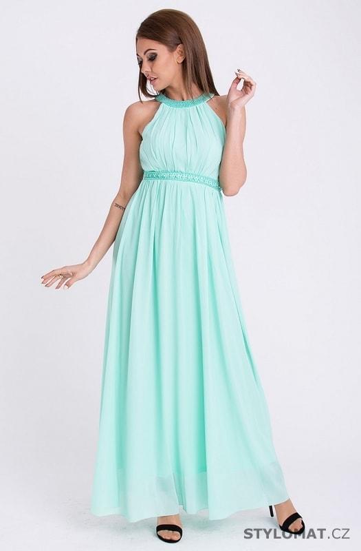 e2e06256a3ac Šaty - mentolové - Pink BOOm - Dlouhé společenské šaty