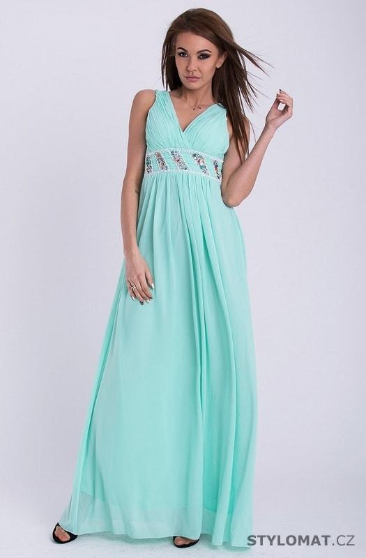 5f602442e55d Šaty - mentolové - Emamoda - Dlouhé společenské šaty