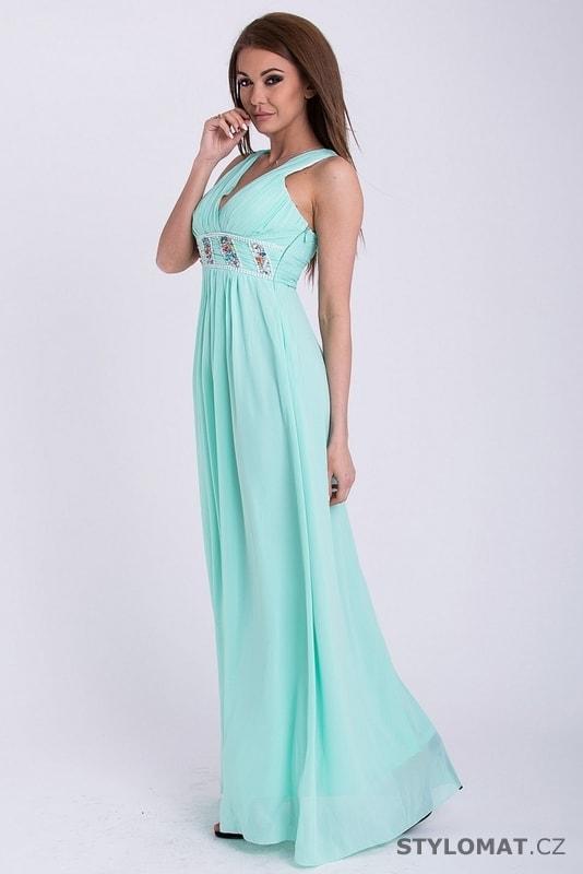 e7c0071f8a Šaty - mentolové - Emamoda - Dlouhé společenské šaty
