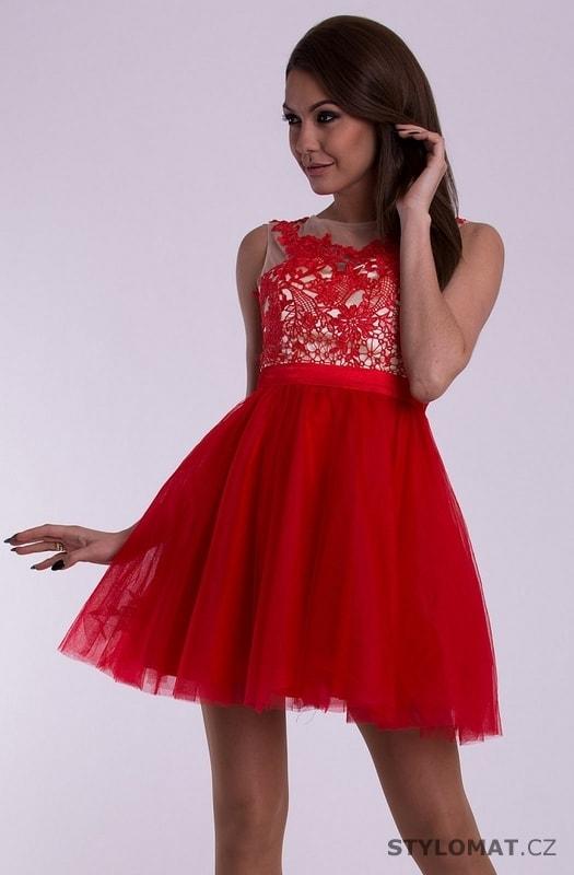 f72806b88d18 Dámské šaty - červené - Eva Lola - Krátké společenské šaty