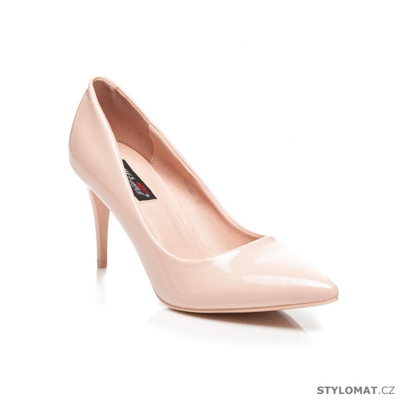 3c3b790399 Klasické dámské lodičky růžové - Yes Mile - Lodičky