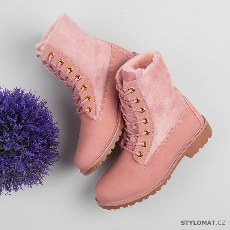 d609257c4 Růžové dámské workery - jiny - Kotníčkové boty