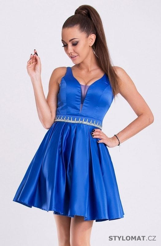 2d6439217b5b Dámské modré plesové šaty - Eva Lola - Krátké společenské šaty