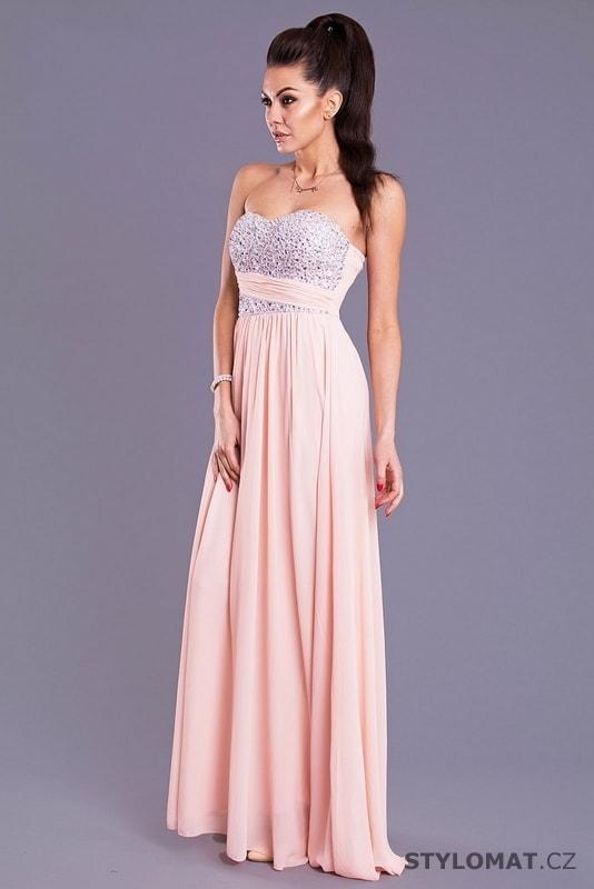 427c52b235b3 Eva a Lola světle růžové šaty - Eva Lola - Dlouhé společenské šaty
