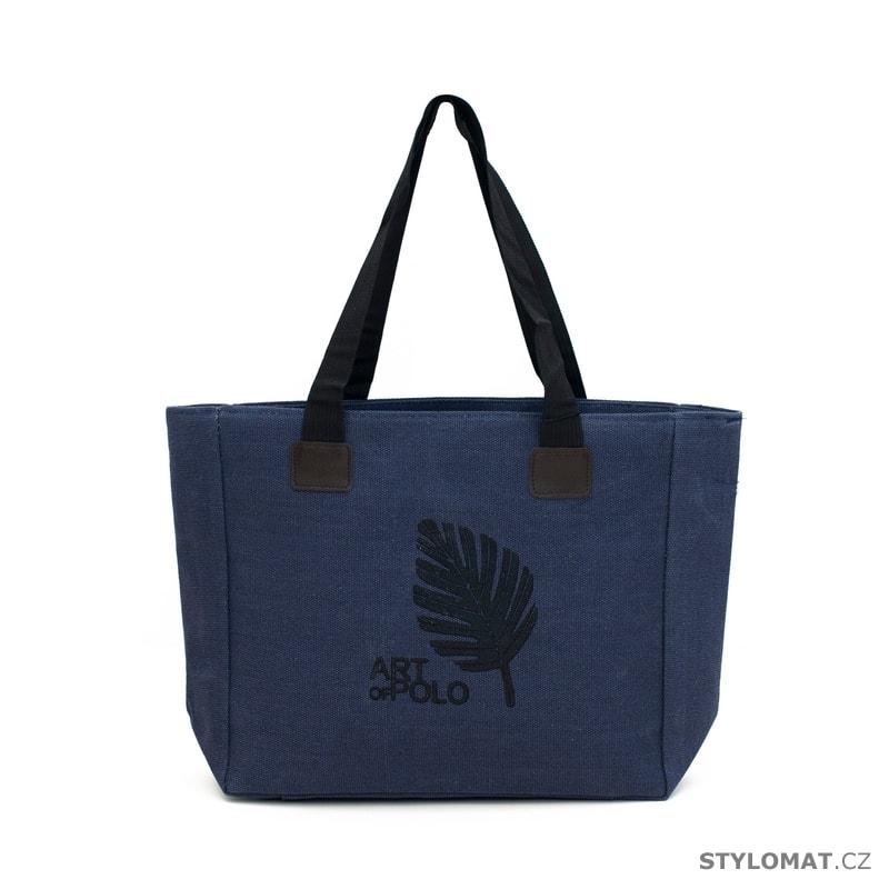 a2e6c79672 Kabelka shopper bag modrá - Art of Polo - Dámské kabelky a tašky