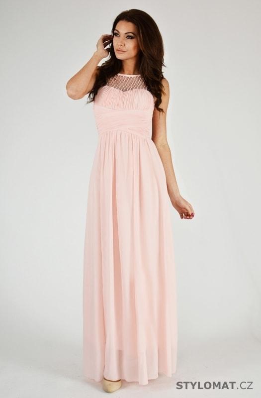 f21daa3dc542 Krásné růžové plesové šaty - Eva Lola - Dlouhé společenské šaty