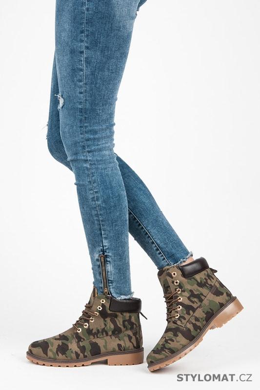 dcbaa3d43 Dámské maskáčové kotníkové boty trapery · Zvětšit. - 50%. Previous; Next