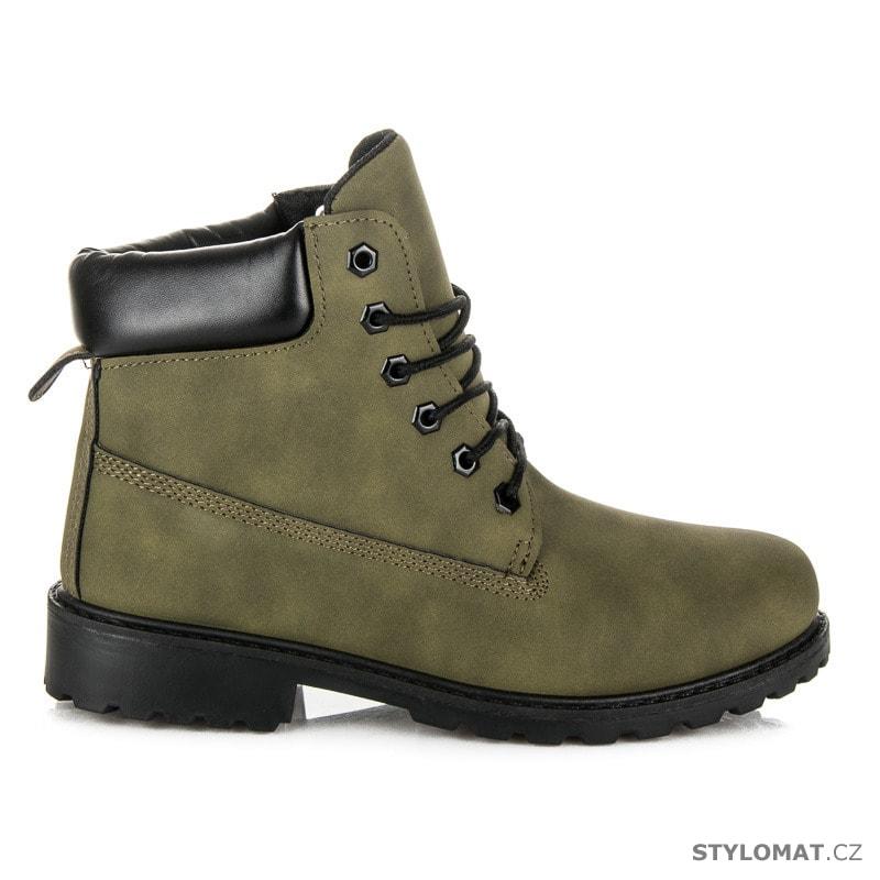 562b29935 Dámské army kotníkové boty trapery - SEASTAR - Workery, trapery, farmářky