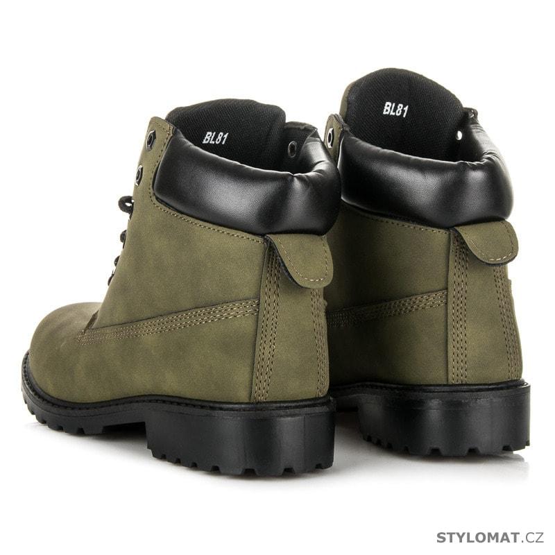 24aea8952 Dámské army kotníkové boty trapery - SEASTAR - Workery, trapery ...