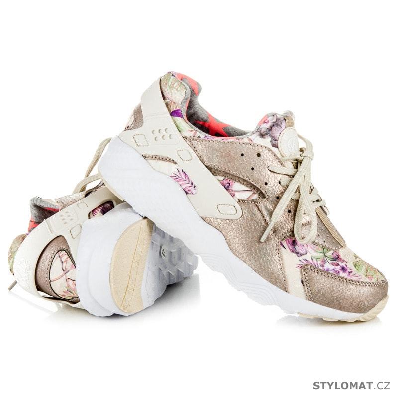 b571b3277ab8 Stylové dámské boty béžové - Kylie - Tenisky