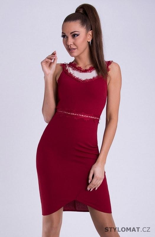ab0c9969bc2c Dámské pouzdrové šaty červené - Emamoda - Krátké společenské šaty