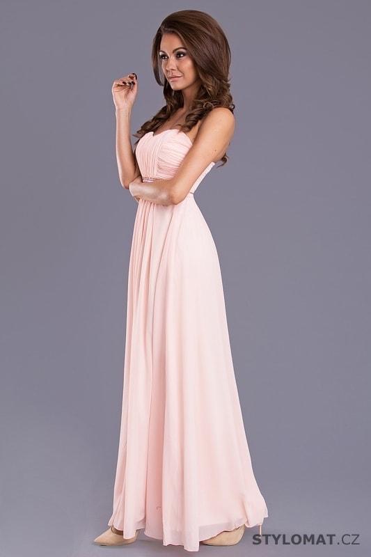2008ac2e300a ... Dlouhé plesové šaty s řaseným vzhledem světle růžové. Previous  Next
