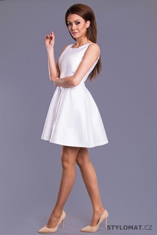 34469884610a ... Krátké společenské šaty    Dámské šaty s mašlí na zádech bílé.  Previous  Next