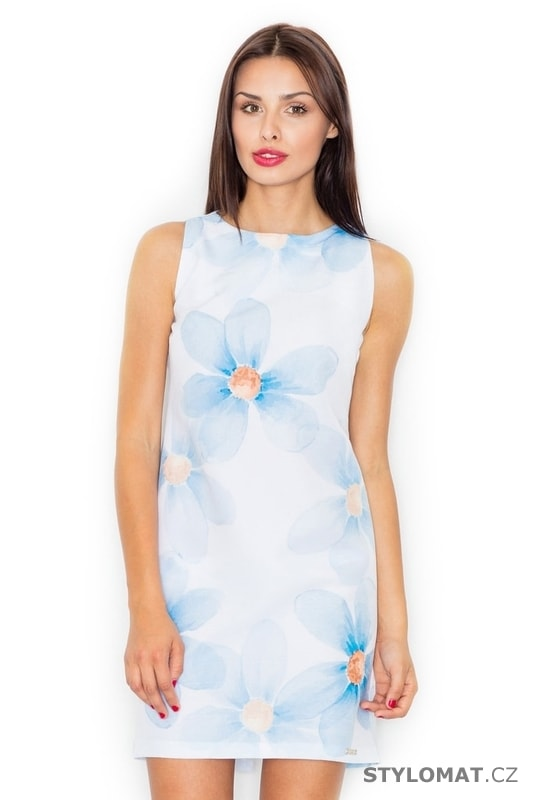 98851c98136b Dámské letní šaty světle modré - Figl - Krátké letní šaty