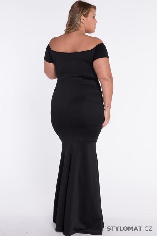2f304ce1a77c Černé plesové šaty pro plnoštíhlé - Damson - Dlouhé společenské šaty