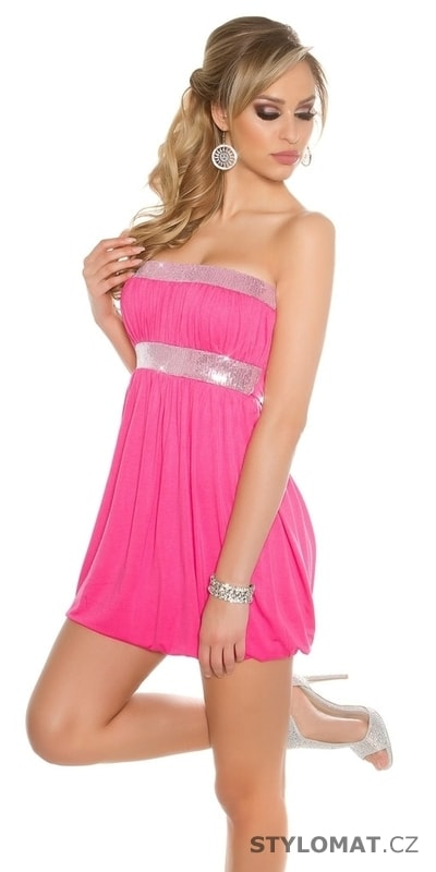 2cf3ca0d67a8 Růžové dámské party šaty - Koucla - Party a koktejlové šaty