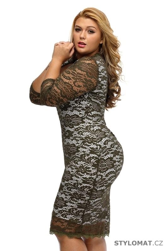 4c262ba35793 Krajkové společenské šaty XXL - Damson - Šaty