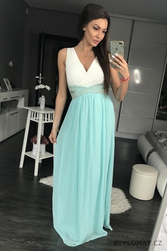 c0483c132972 Dámské dlouhé šaty s průstřihy modré - Eva Lola - Dlouhé společenské šaty