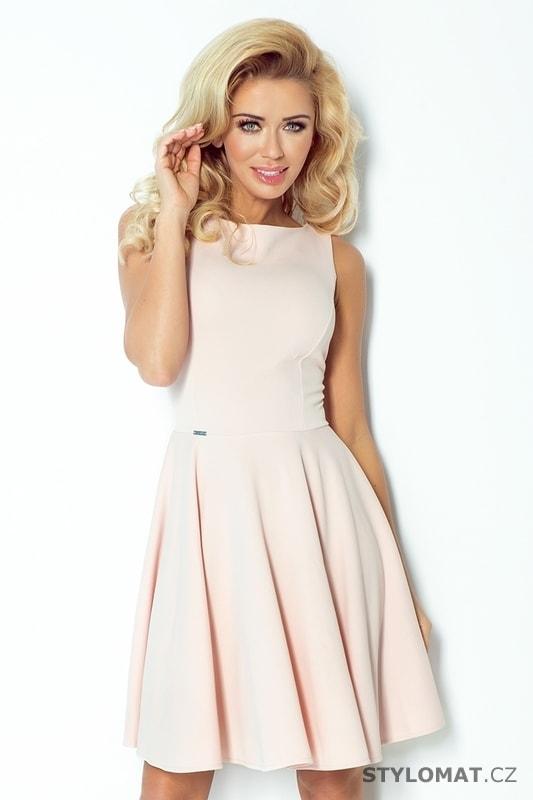 6a6e3fda9537 Jemné růžové společenské šaty - Numoco - Elegantní a business šaty