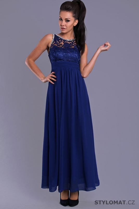 dab3c1ebf4f9 Dlouhé plesové šaty v královsky modré barvě - Eva Lola - Dlouhé ...