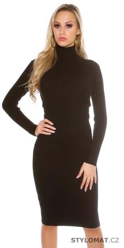 4866d1168f63 Dámské svetrové šaty s rolákem - Koucla - Úpletové šaty