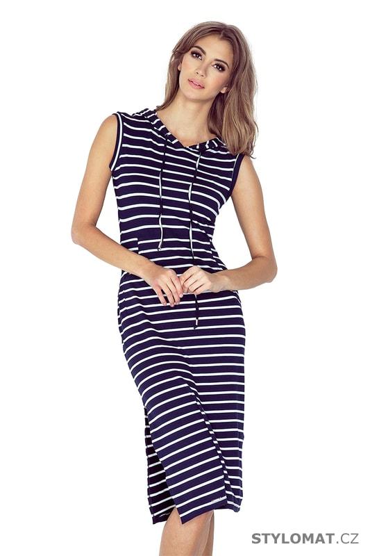 f2ef3c17c520 Dlouhé šaty s kapucí v námořnickém stylu - Numoco - Dlouhé letní šaty