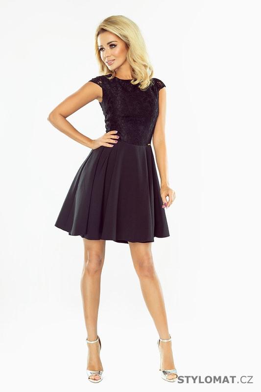 ff649fdd88fa Krajkové šaty s širokou sukní v černé barvě - Numoco - Krátké ...