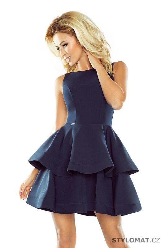 5e5c1a36817c Šaty s širokou nadýchanou sukní tmavě modré - Numoco - Krátké společenské  šaty