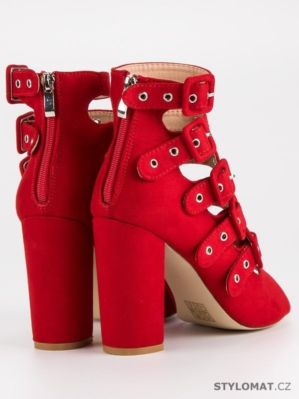 a93cc5caf8a1 ... Rockové sandály na sloupku vices červené. Previous  Next